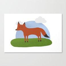 Fox Pattern Canvas Print