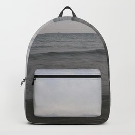 Distant Lighthouse on Lake Michigan Backpack