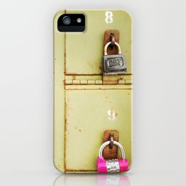 Green Locked Mailboxes iPhone Case