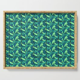 Sea Green Tiles Serving Tray
