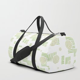 Imperfection in Green Duffle Bag