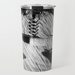 Black and white corkscrew Travel Mug