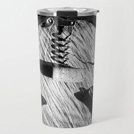 Black and white corkscrew Travel Mug