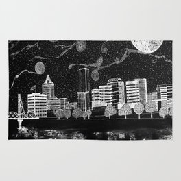 Portland Oregon Skyline Rug
