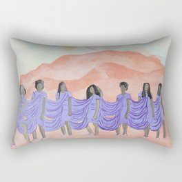 A Seat on the Mountain Top Rectangular Pillow