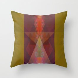 Cymatic Totem Throw Pillow
