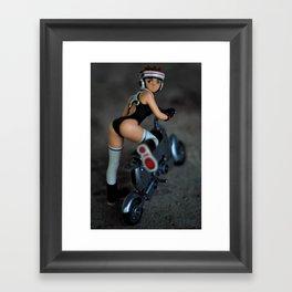 girlbike Framed Art Print