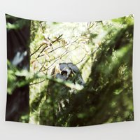 focus Wall Tapestries featuring Owl by Tarraf Photography