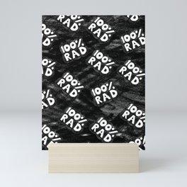 100 % RAD Pattern Mini Art Print