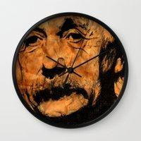 musa Wall Clocks featuring EINSTEIN by DeMoose_Art
