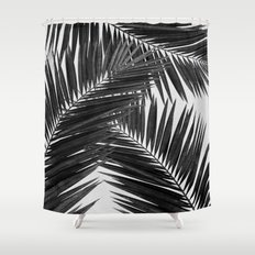 Palm Leaf Black & White III Shower Curtain