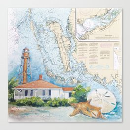 Sanibel Island, FL lighthouse Canvas Print