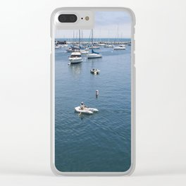 Monterey Bay Row Boat Clear iPhone Case