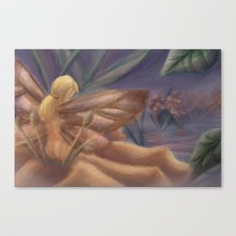 Fairy with Butterfly Wings Canvas Print
