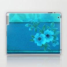 Teal paper flowers Laptop & iPad Skin
