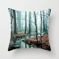 blue Throw Pillows featuring Gather up Your Dreams by Olivia Joy StClaire