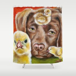 Chicksitting Afternoon Shower Curtain