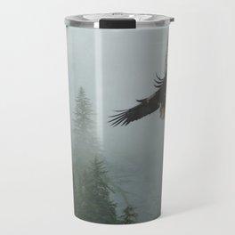 Battle for the Cedars - Bald Eagles Wildlife Scene Travel Mug