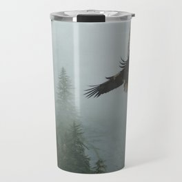 Battle for the Cedars - Bald Eagles Wildlife Scene Travel Mug