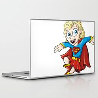 supergirl Laptop & iPad Skins featuring Supergirl! by neicosta