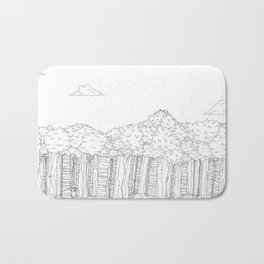 BigFoot Forest (Black and White) Bath Mat