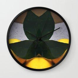 Lemon mirror Wall Clock