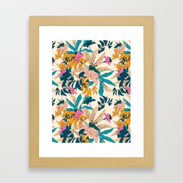 Colorful botanical garden Framed Art Print