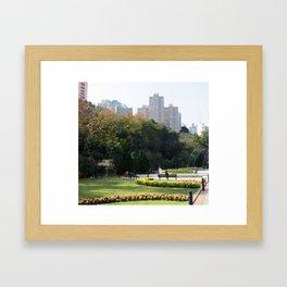 Park living Framed Art Print