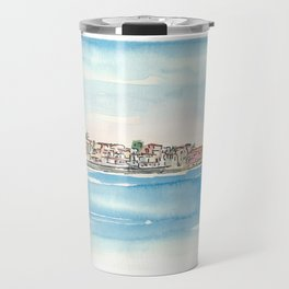 Chania Crete Greece Waterfront Harbour Travel Mug
