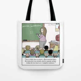 Using The Semicolon Tote Bag