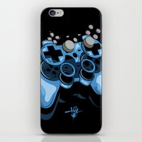 gamer iPhone & iPod Skins featuring Gamer by Hey Yet