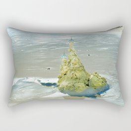 castles in the sand Rectangular Pillow