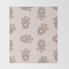 Jewelbox: Morganite Brooch in Light Blush Throw Blanket