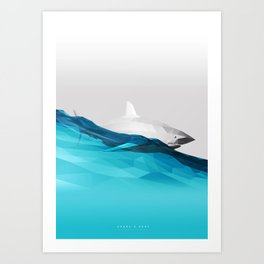 Shark's Surf Art Print