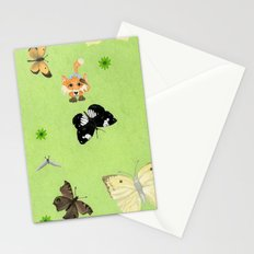 Butterfly watching Stationery Cards