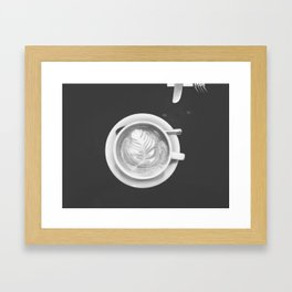 Coffee Perfection - Black and White Framed Art Print