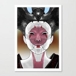 Robot Geisha V1 Canvas Print