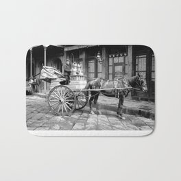New Orleans milk cart Bath Mat
