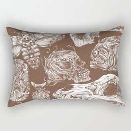 Bones in Brown Rectangular Pillow