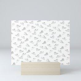 sneaker shoe pattern - retro sneaker illustration design Mini Art Print
