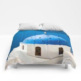 Beautiful Greece Comforters