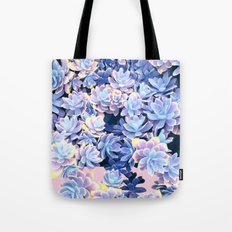 Cactus Fall - Blue and Pink Tote Bag