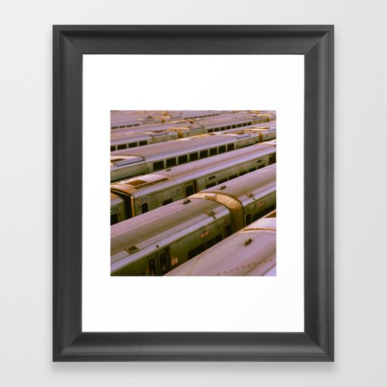 Train Yard Framed Art Print