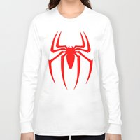 spider man Long Sleeve T-shirts featuring Spider Man by Sport_Designs