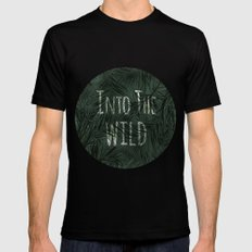 into the wild *palms Mens Fitted Tee MEDIUM Black