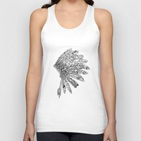 indian Tank Tops featuring Indian by Andrea Eedes