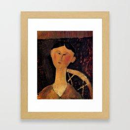 """Amedeo Modigliani """"Beatrice Hastings"""" 1915 Framed Art Print"""