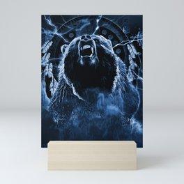 CHIEF CHARGING BEAR Mini Art Print