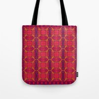 ashton irwin Tote Bags featuring Marburg virus tapestry- by Alhan Irwin by Microbioart