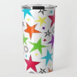 Trendy colourful star Travel Mug